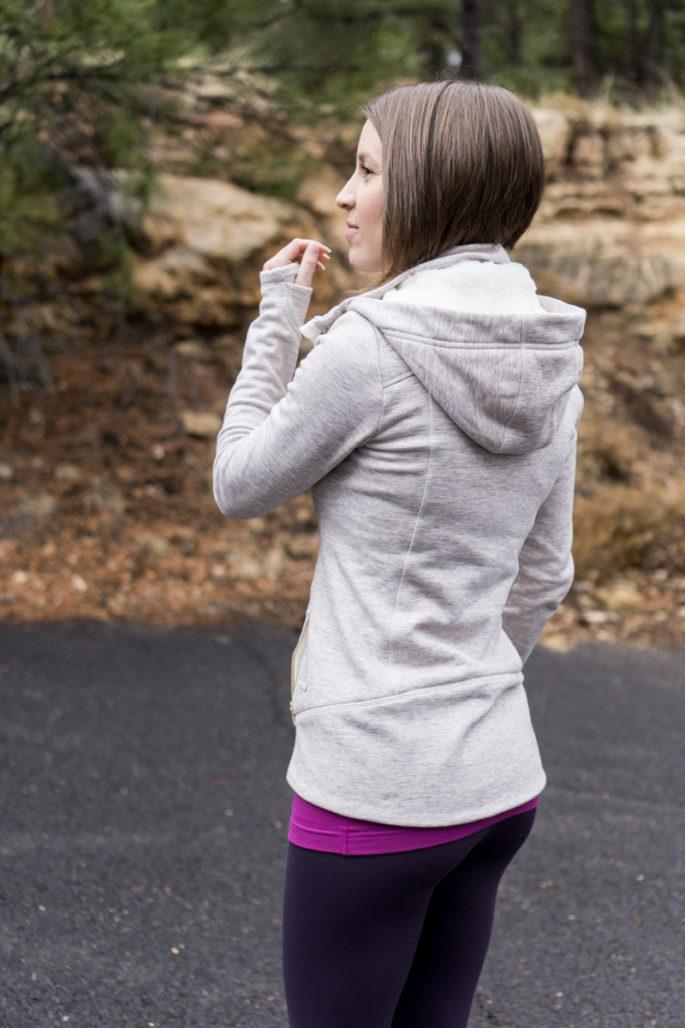 Athleta faux fur lined jacket