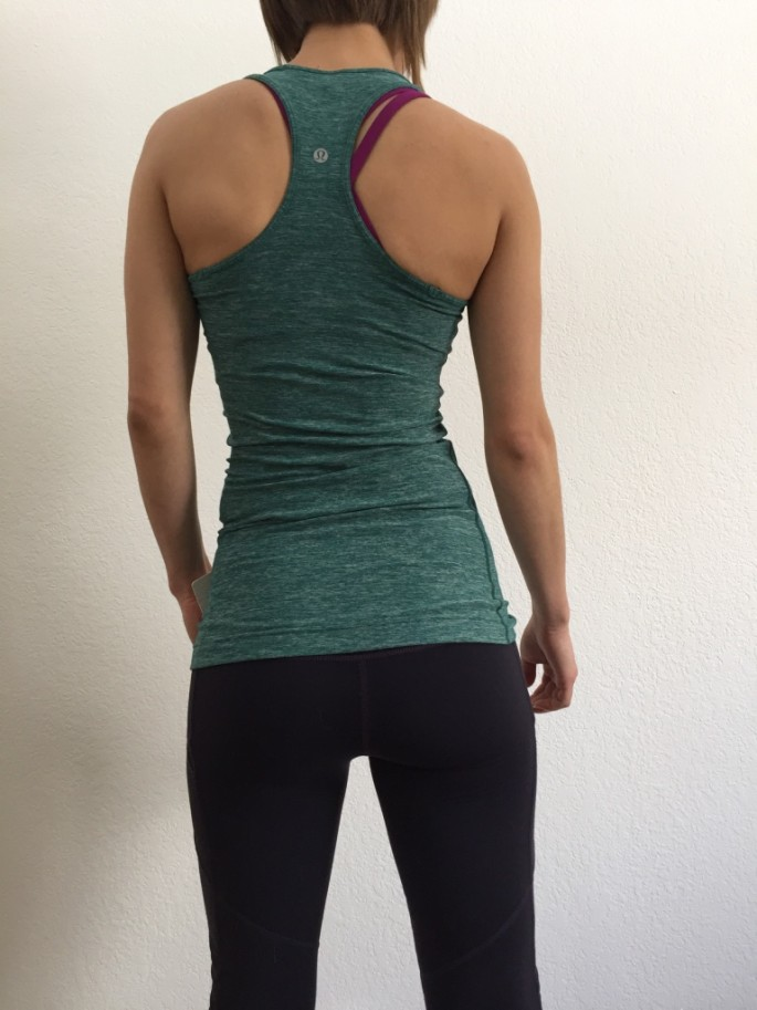 Lululemon heathered forest cool racerback review 2