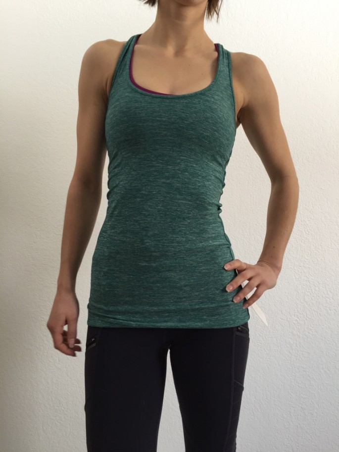 Lululemon heathered forest cool racerback review