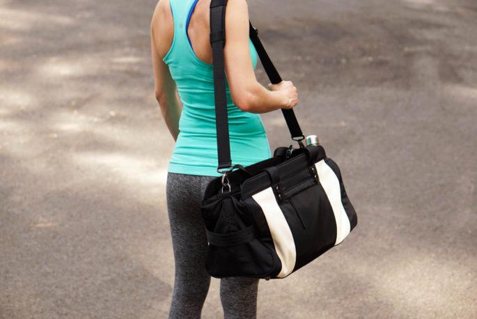 Persu Collection Jessica gym bag black creamy white review
