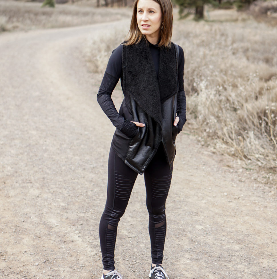 All black fitness outfit