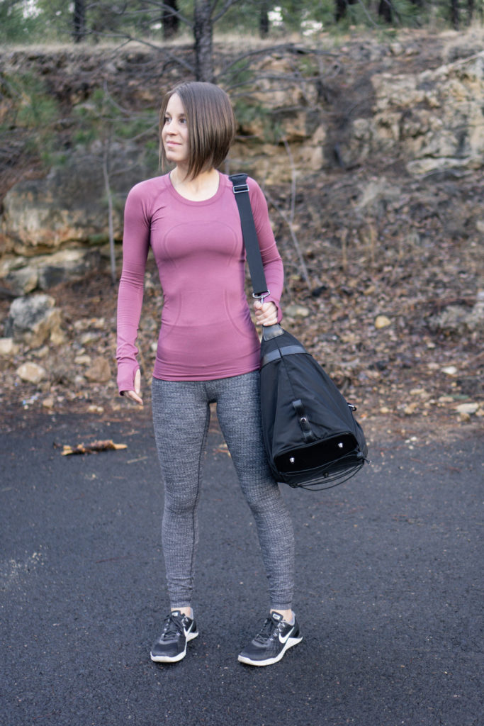 Lululemon winter gym outfit