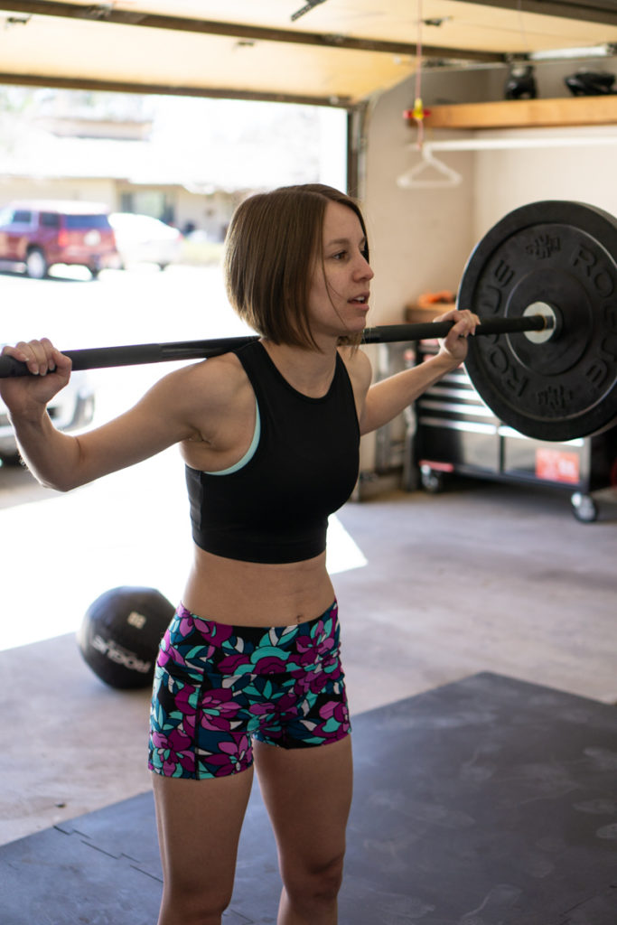 Strength training workout outfit