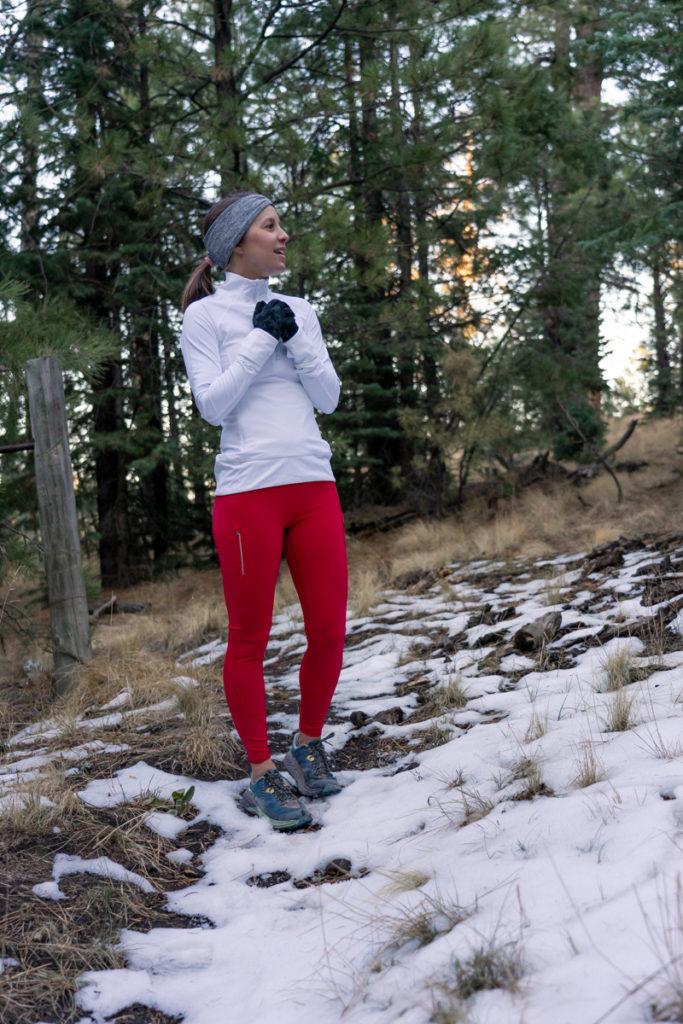 Athleta cold weather training: rainier tights