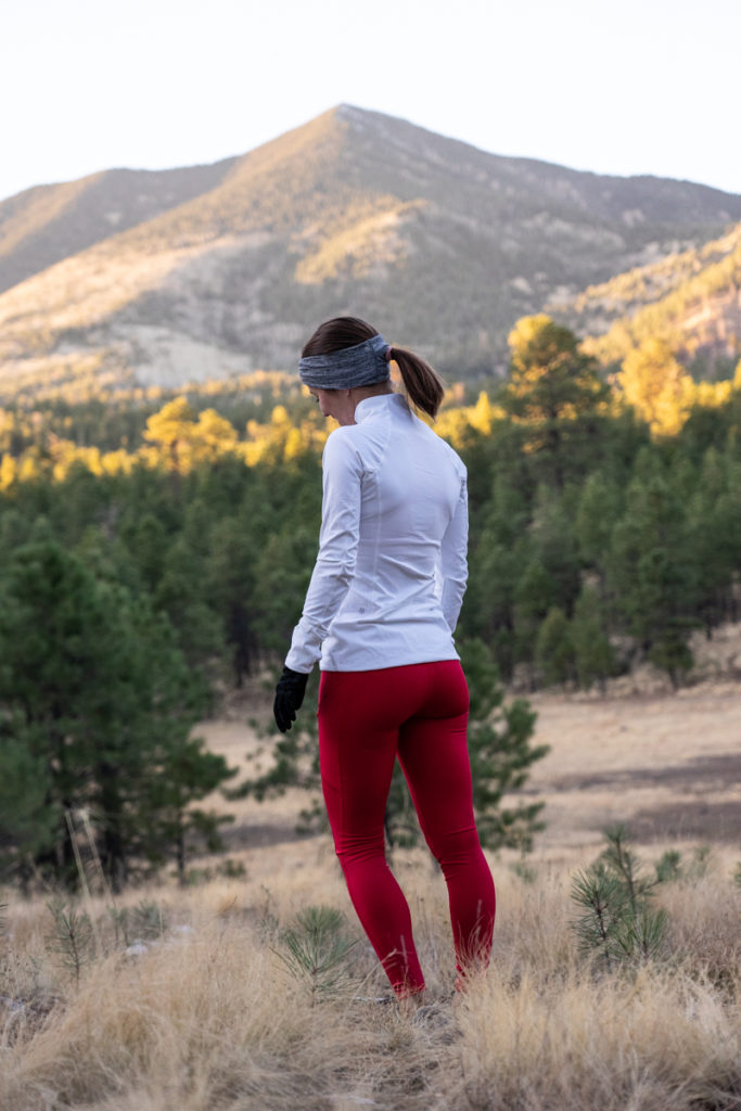 Winter mountain running outfit
