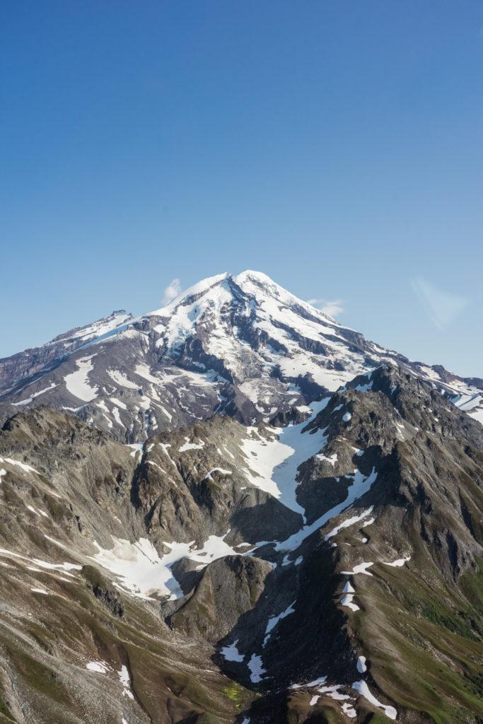Redoubt Mountain in flight