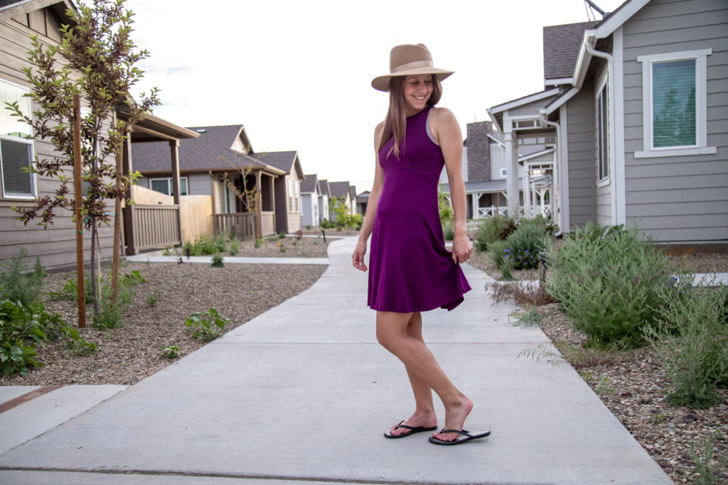 Athleta fit and flare dress review